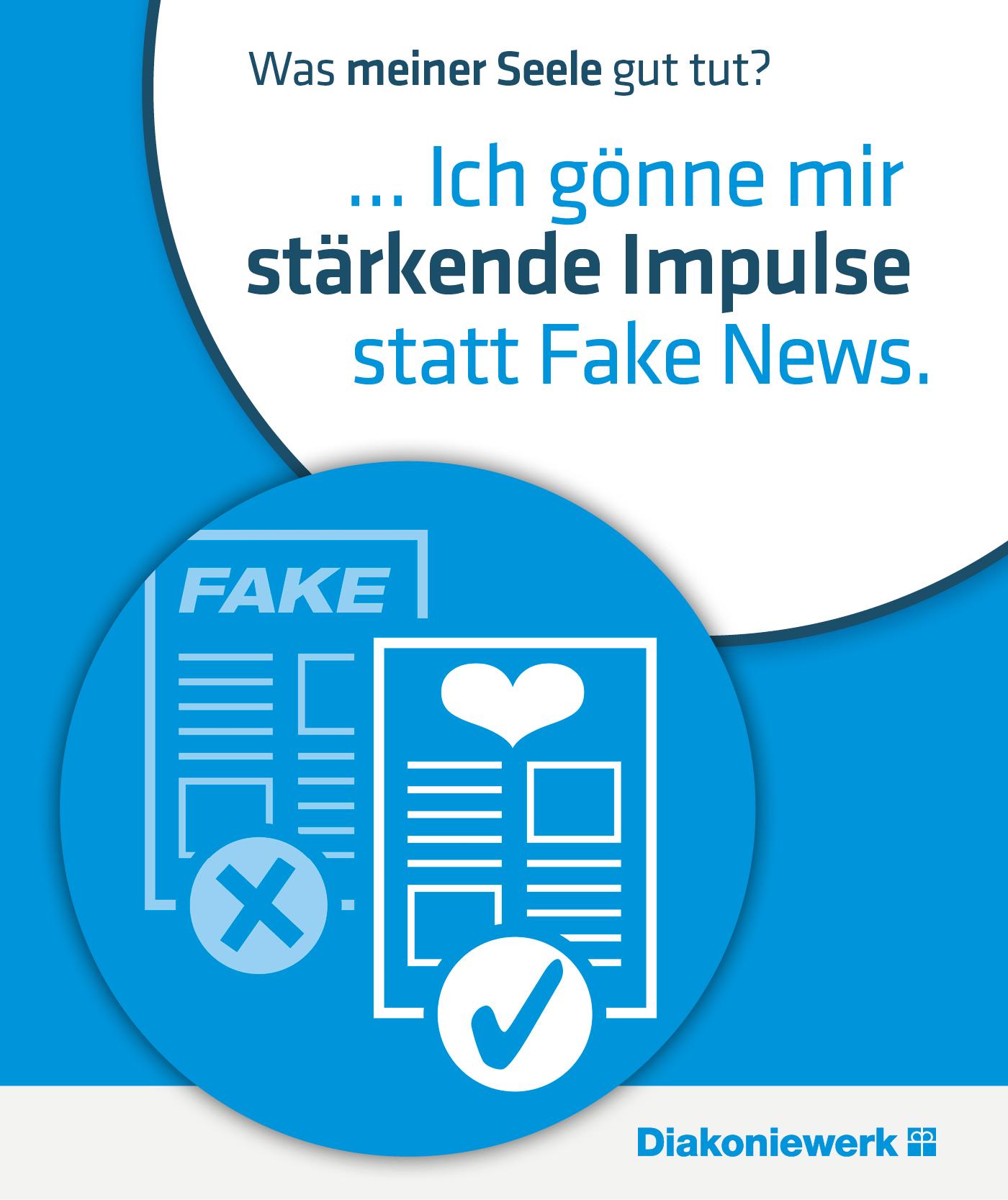 Seelengesundheit im Diakoniewerk - Ich gönne mir stärkende Impulse statt Fake News
